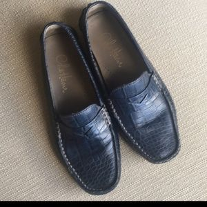 Cole Haan Navy Penny-Loafers
